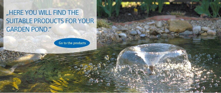 Pontec products for fountains, watercourses and ponds