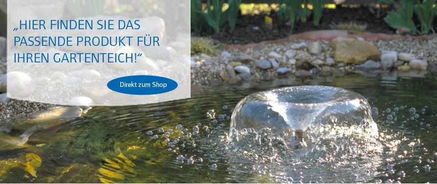 Pontec Produkte für Brunnen, Bauchläufe und Teiche