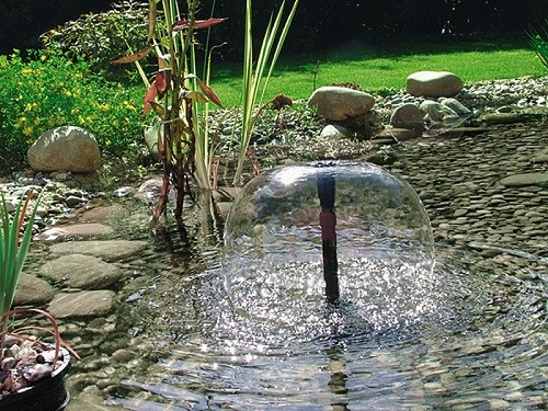 Ponduett 5000 unterwasserfilter mit wasserspiel pontec for Ornamental pond filters