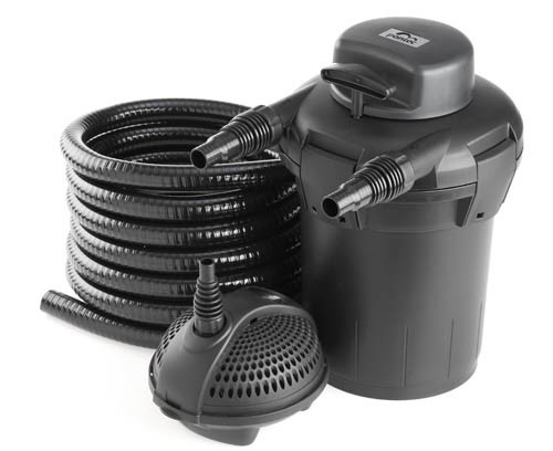 Pond filter pondopress 5000 pressure filter set pontec for Pond without filter