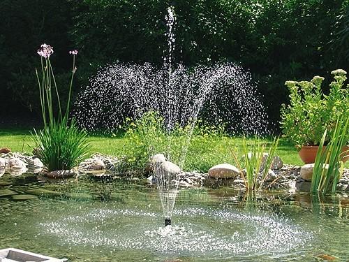 Fountain pump pondovario 1500 pontec for Ornamental pond supplies