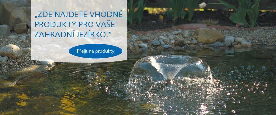 Pontec produkty pro fontánky, potůčky a jezírka